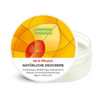 NADEOS Natürliche Deo-Creme Pfirsich