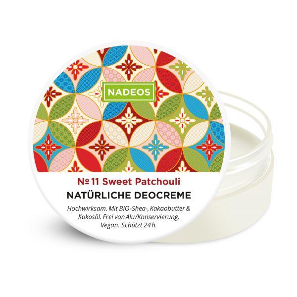 Nadeos Natürliche aluminiumfreie Deocreme Sweet Patchouli