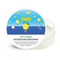 NADEOS Natürliche Deocreme Limone frei von Aluminium