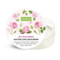 NADEOS Natürliche Deo-Creme Rosenblüte